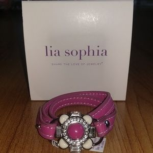 "NWT Lia Sophia Under Wraps (Hibiscus Pink) 6"""